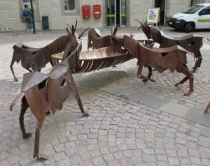 oeuvre 1  : des chèvres s'abreuvant