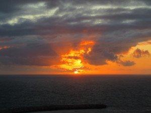 Coucher de soleil à Nazaré